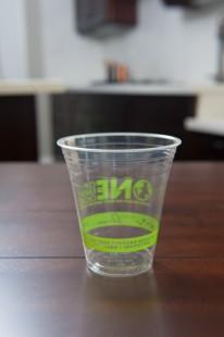 12 oz Clear PLA Cups - Eco Friendly Generic Print